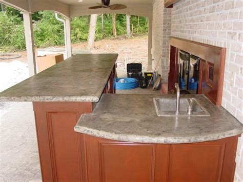 outdoor kitchen countertops outdoor kitchen concrete countertop for the home