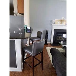 Greyson Living Tisbury Counter Height Stool Set Of 2 by Greyson Living Tisbury Faux Leather Bar Stool Set Of 2