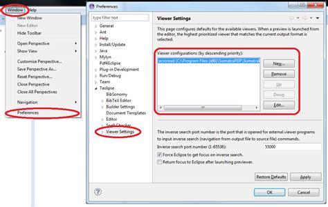 eclipse theme default restore eclipse restoring default viewer settings in texlipse