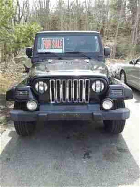 2000 Jeep Wrangler Top Sell Used 2000 Jeep Wrangler Sport Sport 4 0 Liter