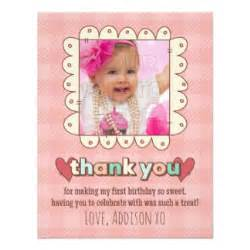 1st birthday thank you cards invitations zazzle co uk