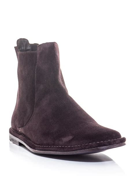 purple boots mens lyst paul smith suede chelsea boots in purple for