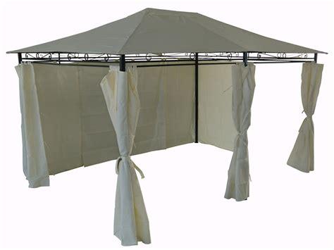 tonnelle de jardin avec rideaux tonnelle pergola quot rosita quot avec rideaux amovibles en polyester 3 x 4 x 2 7 m 52001
