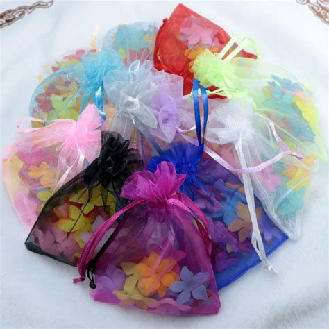 wholesale 100pc lot 5x7cm organza gift bags christmas bags