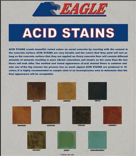 acid stain colors eagle concrete acid stain color chart basement