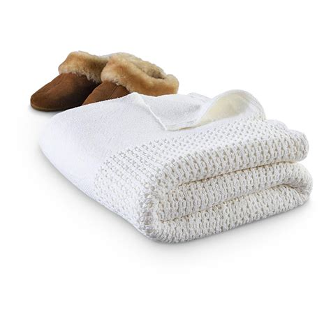 white knit blanket new swedish cotton knit blanket white 211164 blankets