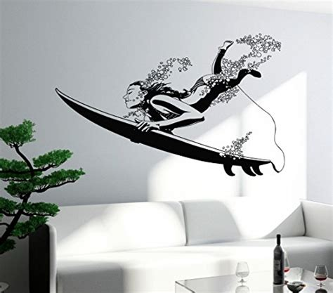 surf wall stickers funky surfing wall decals for the fish in the family funk this house