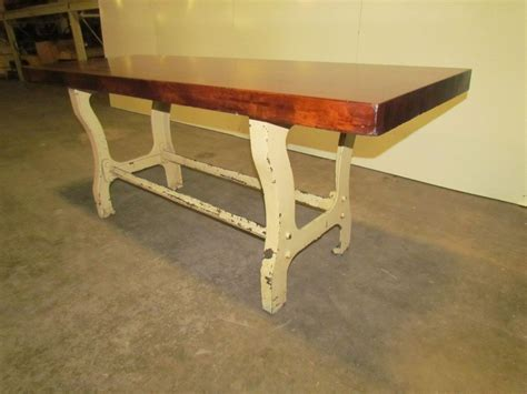 butcher block desk legs vintage antique industrial 3 quot butcher block dining kitchen