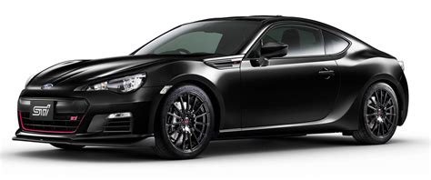 subaru brz black subaru brz ts sti launched in japan tweaked suspension
