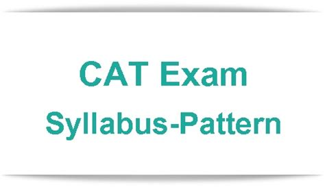 Pattern Of Cat Exam | cat syllabus cat exam pattern 2017 2018 future khoj