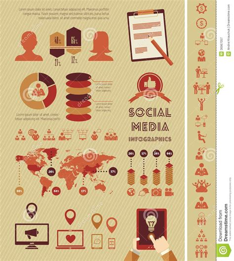 Social Media Infographic Template Editorial Photography Image 36967057 Social Media Terms And Conditions Template