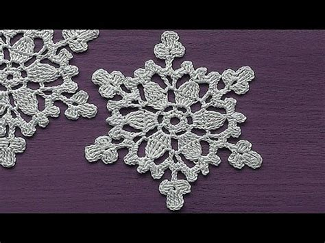 snowflake patterns youtube crochet motif snowflake ornament crochet tutorial