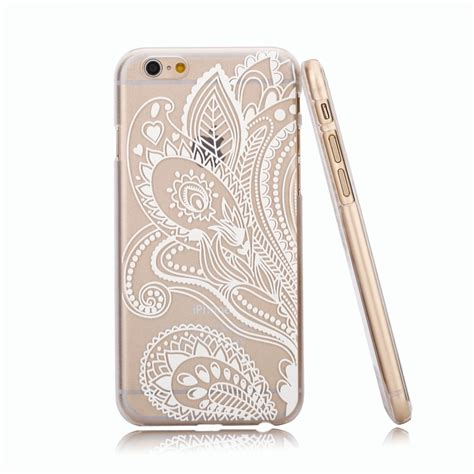amazon com iphone 6 case la go go henna clear plastic
