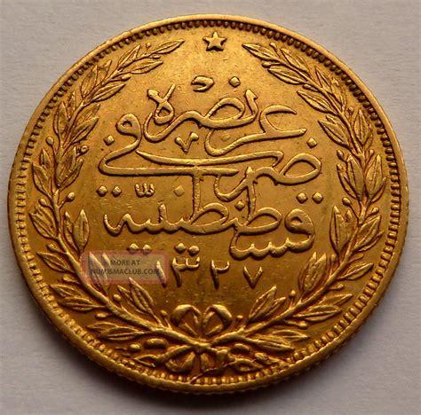 ottoman empire gold coins turkey ottoman empire 100 kurush 1327 4 1912 7 2g 0