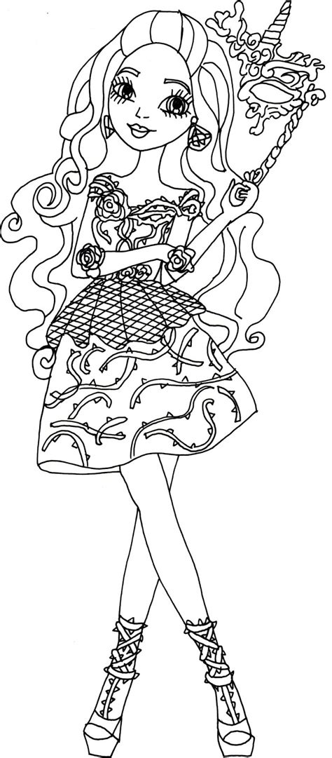 coloring page ever after high free printable ever after high coloring pages briar