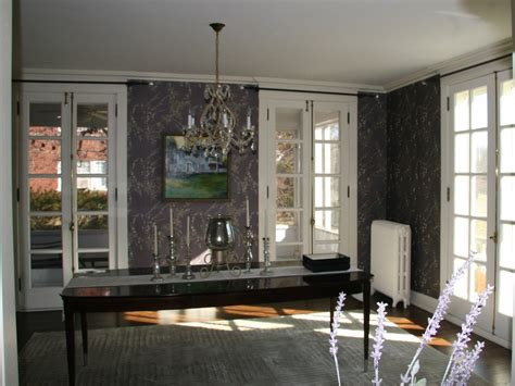 historic springfield home before dining room drapery
