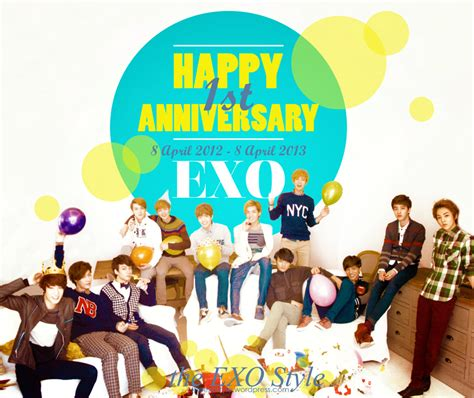 exo anniversary just for you happy 1st anniversary exo