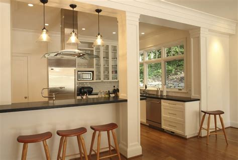 post and beam kitchen kitchen contemporary with pillar
