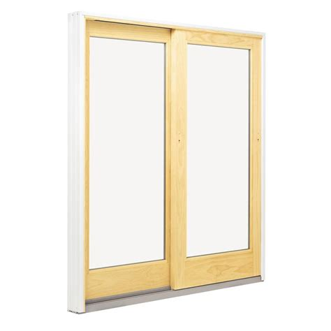Patio Door Window Andersen 72 In X 80 In 400 Series Frenchwood Left Sliding Patio Door Fwg6068 L Wht Kit