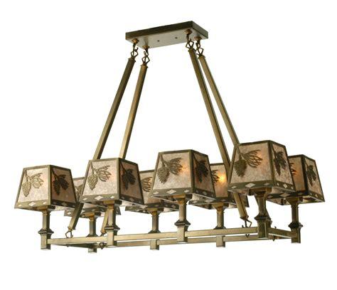 meyda 50837 balsam pine rectangular chandelier