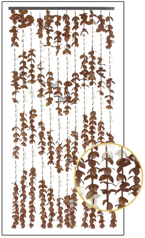 brown beaded curtains fabric flowers curtain brown cream shopwildthings com
