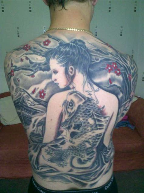 tattoo geisha back custom geisha back piece tattoo
