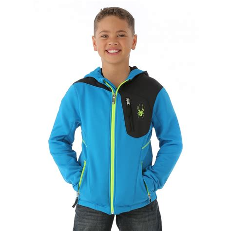 Rilakuma Kid Jaket Kid spyder boys strato fleece jacket electric blue black bryte green