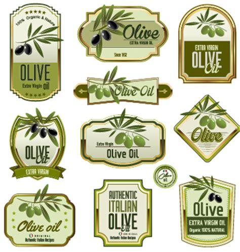 Green Olive Oil Labels Set Vector 01 Free Download Olive Labels Templates
