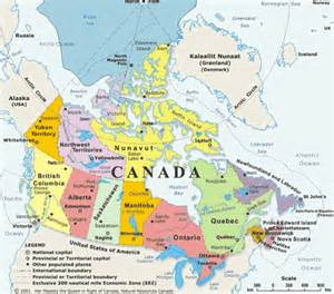 canada on map msjohnsons geography