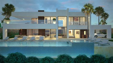 2 Story House With Pool by Modern Villas Marbella Villas For Sale In Marbella