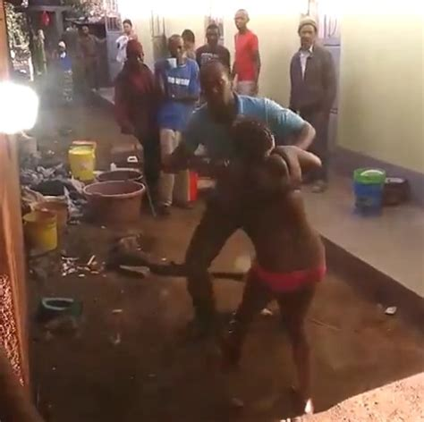 death men in nigeria husband beats his wife almost to death for cheating as