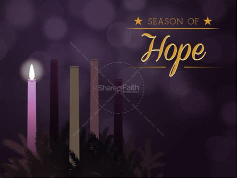 celebrating advent church powerpoint template christmas