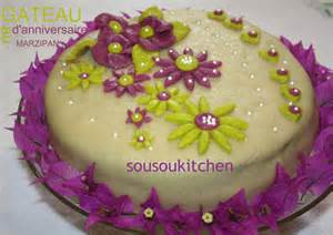my birthday cake with marzipan 2012 sousoukitchen