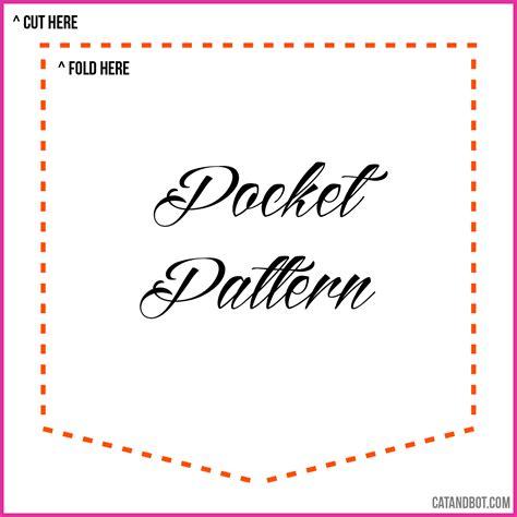 pattern for shirt pocket pocket pattern diy make your own pocket crafting idea