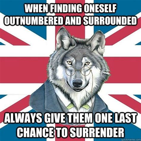 Courage Wolf Meme - quot sir courage wolf esquire quot quickmeme 187 words