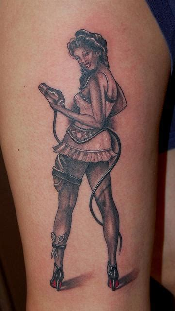 male pinup tattoo best tattoos black and gray hairdresser pinup