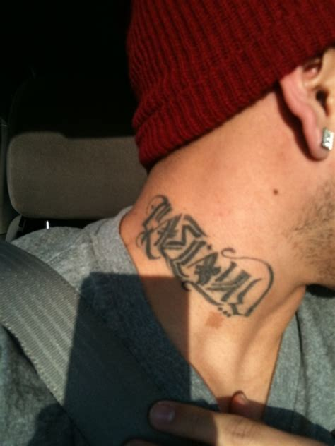29 neck tattoos designs for men