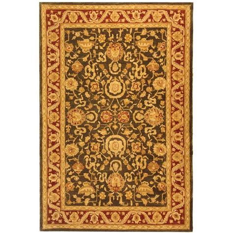 8 ft area rugs safavieh anatolia charcoal 8 ft x 10 ft area rug an548b 8 the home depot