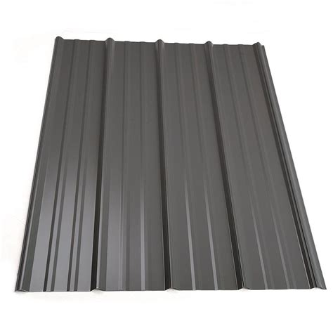 metal sales 5 ft classic rib steel roof panel in charcoal