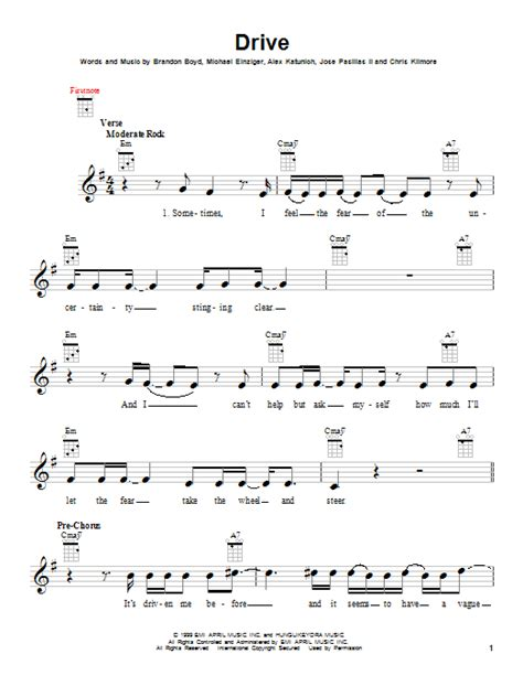 drive incubus chord drive by incubus ukulele guitar instructor