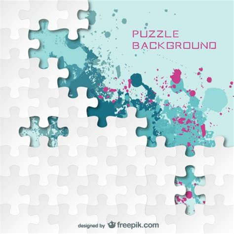 puzzle design elements vector puzzle splash color background vector free download