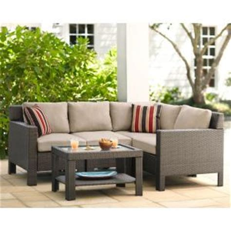 hampton bay beverly  piece patio sectional seating set