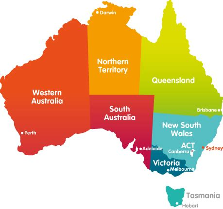 australia map with states and capital cities australian states and capitals clipart best