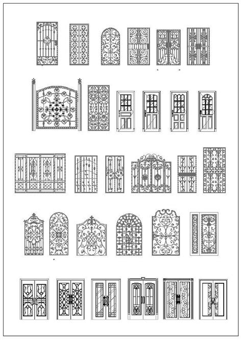 Door and Window Design,Architecture Ornamental Parts