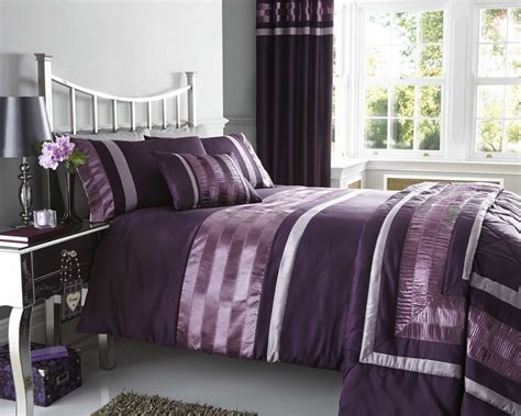 purple curtains and matching bedding eyelet headed curtains purple plum faux silk fully lined 3