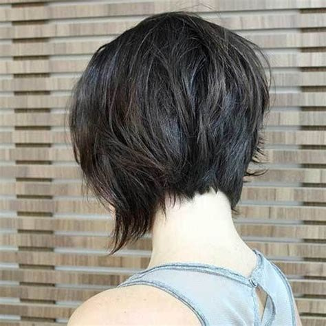 Short Angled Bob Haircut Back View – 60 Classy Short Haircuts and Hairstyles for Thick Hair
