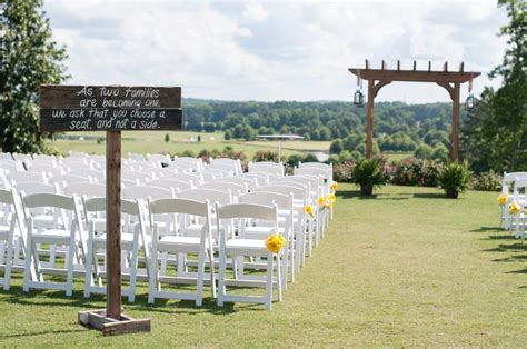 small wedding venues atlanta ga a touch of yellow inspired outdoor wedding in douglasville ga the celebration society