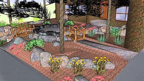 landscape layout sketchup front yard landscaping 3d rendering google sketchup youtube