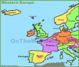 Western European Map by Western Europe Map