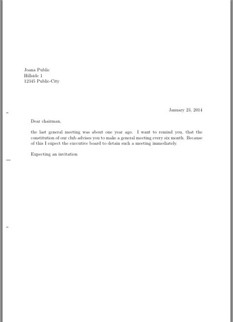 Sle Invitation Letter For Committee Meeting Packages For Writing Letter Tex Stack Exchange